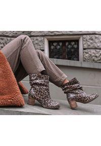 Botki Zapato z okrągłym noskiem, biznesowe, wąskie, bez zapięcia