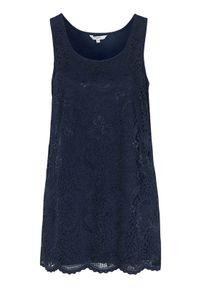 Niebieska tunika Cellbes elegancka, w koronkowe wzory, bez rękawów