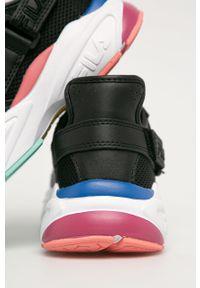 Czarne buty sportowe Fila z cholewką, z okrągłym noskiem