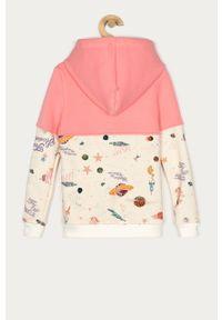 Różowa bluza rozpinana Femi Stories casualowa, na co dzień, z kapturem