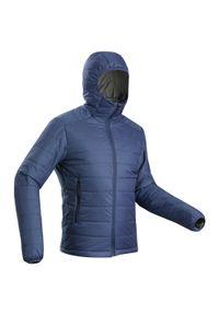 FORCLAZ - Kurtka trekkingowa męska zimowa Forclaz Trek 100 -5°C. Kolor: niebieski. Materiał: poliamid, materiał, poliester. Sezon: zima