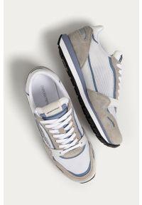 Białe sneakersy Emporio Armani z cholewką, z okrągłym noskiem