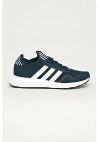 Niebieskie sneakersy adidas Originals do biegania, na sznurówki