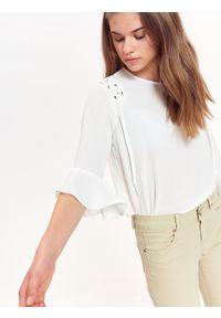 Biała bluzka TROLL na lato, na co dzień, casualowa, z krótkim rękawem #7