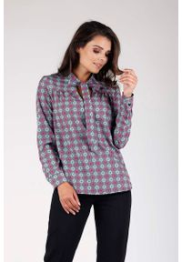Fioletowa bluzka z długim rękawem Nommo elegancka