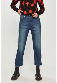 Niebieskie jeansy loose fit Hugo