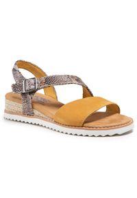 Żółte sandały skechers