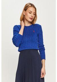 Niebieski sweter Polo Ralph Lauren na co dzień, casualowy, polo