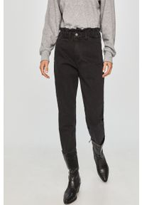 Czarne jeansy Answear Lab wakacyjne, z podwyższonym stanem