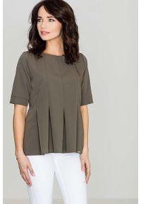 Oliwkowa bluzka Katrus elegancka