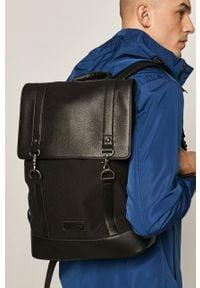 Czarny plecak medicine gładki, casualowy