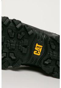 Szare sneakersy CATerpillar z cholewką, na sznurówki, z okrągłym noskiem