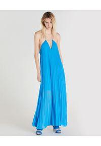 Niebieska sukienka Patrizia Pepe na lato, maxi
