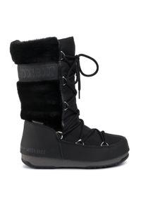 Czarne śniegowce Moon Boot z cholewką, na zimę