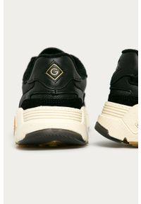 Czarne buty sportowe GANT z okrągłym noskiem, na sznurówki