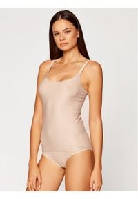 Chantelle Top Soft Stretch C10620 Beżowy Slim Fit. Kolor: beżowy
