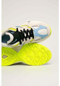 Beżowe buty sportowe Reebok Classic z cholewką, na sznurówki