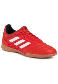 Czerwone półbuty Adidas z cholewką