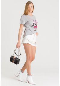 T-shirt Pinko z okrągłym kołnierzem, z aplikacjami