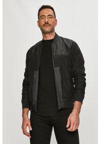Czarna kurtka Calvin Klein Jeans gładkie, casualowa, bez kaptura