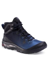 Niebieskie buty trekkingowe salomon trekkingowe, z cholewką, Gore-Tex