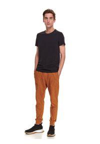 TOP SECRET - T-shirt krótki rękaw męski gładki. Kolor: niebieski. Długość rękawa: krótki rękaw. Długość: krótkie. Wzór: gładki