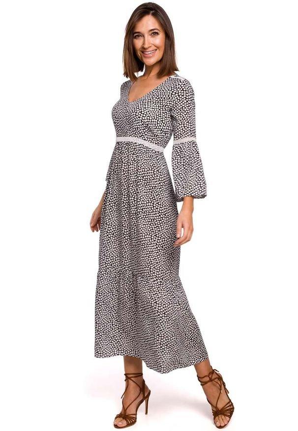 MOE - Sukienka Maxi w Stylu Boho - Model 2. Materiał: wiskoza, poliester. Styl: boho. Długość: maxi