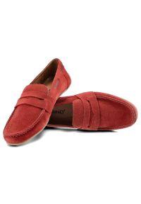 Karino - Mokasyny KARINO 458 Czerwony 057/163/TR. Kolor: czerwony
