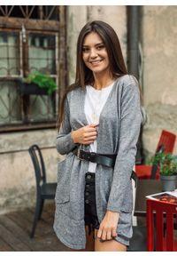 Szary sweter Fanaberia.com z klasycznym kołnierzykiem, długi, klasyczny #1