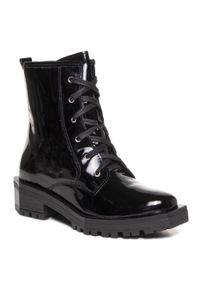 Czarne buty trekkingowe Maciejka z cholewką