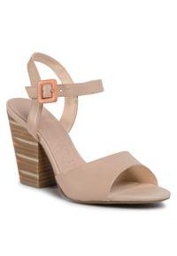 Beżowe sandały Loretta Vitale casualowe, na co dzień