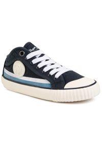 Pepe Jeans - Tenisówki PEPE JEANS - Industry Surf PBS30426 Navy 595. Okazja: na uczelnię, na spacer. Kolor: niebieski. Materiał: materiał. Szerokość cholewki: normalna