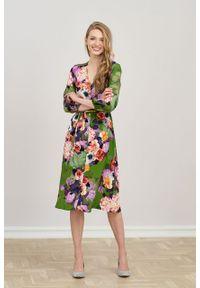 Marie Zélie - Sukienka Lila Botha. Typ kołnierza: dekolt w kształcie V. Materiał: wiskoza. Typ sukienki: proste