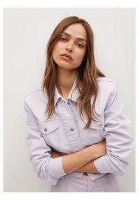 mango - Mango Kurtka jeansowa Mel 87097880 Biały Regular Fit. Kolor: biały. Materiał: jeans