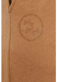 Mos Mosh - Spodnie. Kolor: brązowy. Materiał: bawełna, dzianina. Wzór: gładki