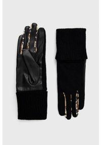 Desigual - Rękawiczki z domieszką wełny. Kolor: czarny. Materiał: wełna