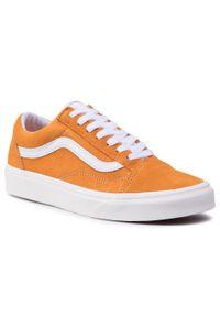 Pomarańczowe buty sportowe Vans z cholewką, Vans Old Skool