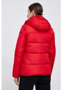 CMP - Kurtka. Kolor: czerwony. Materiał: tkanina, materiał. Wzór: gładki