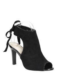 Czarne sandały Sergio Leone klasyczne, na lato, na co dzień