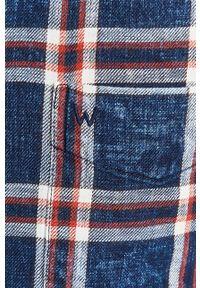 Czerwona koszula Wrangler casualowa, button down, długa, na co dzień