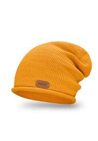 Pomarańczowa czapka PaMaMi elegancka, na jesień