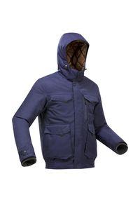 quechua - Kurtka turystyczna męska zimowa wodoodporna Quechua SH100 X-WARM -10°C. Kolor: niebieski. Sezon: zima. Sport: wspinaczka