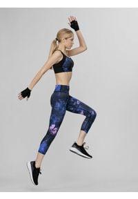 4f - Legginsy do biegania damskie. Kolor: wielokolorowy. Materiał: dzianina, materiał
