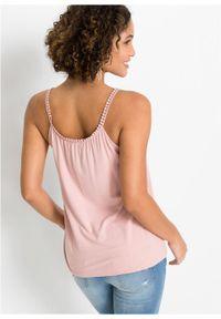 Fioletowy top bonprix na ramiączkach