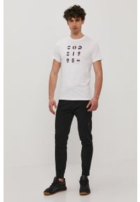 4f - 4F - T-shirt. Kolor: biały. Wzór: nadruk