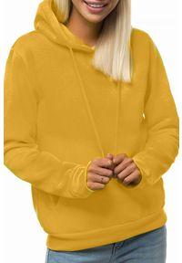 Żółta bluza IVET na co dzień, casualowa, z kapturem