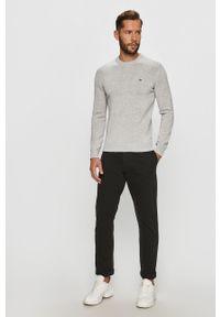 Srebrny sweter Lacoste na co dzień, casualowy