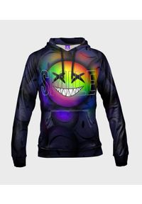 MegaKoszulki - Bluza damska fullprint z kapturem Rainbow Smile. Typ kołnierza: kaptur. Materiał: dresówka, dzianina