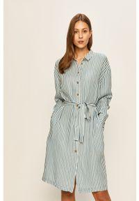 Niebieska sukienka Vila mini, casualowa, prosta, na co dzień