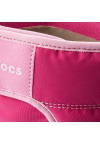 Różowe buty zimowe Crocs na zimę, na rzepy